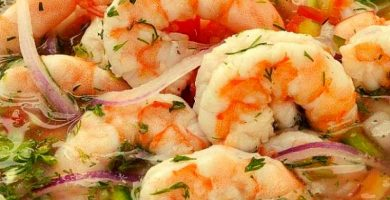 receta de ceviche de camarones