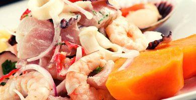 receta de ceviche de mariscos peruano