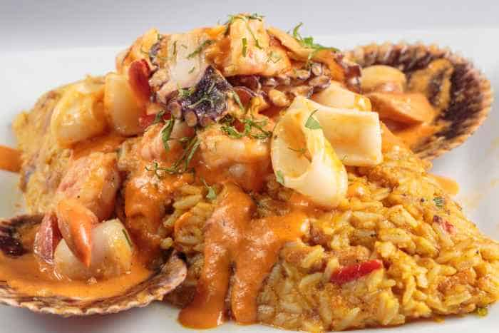 receta de arroz con mariscos